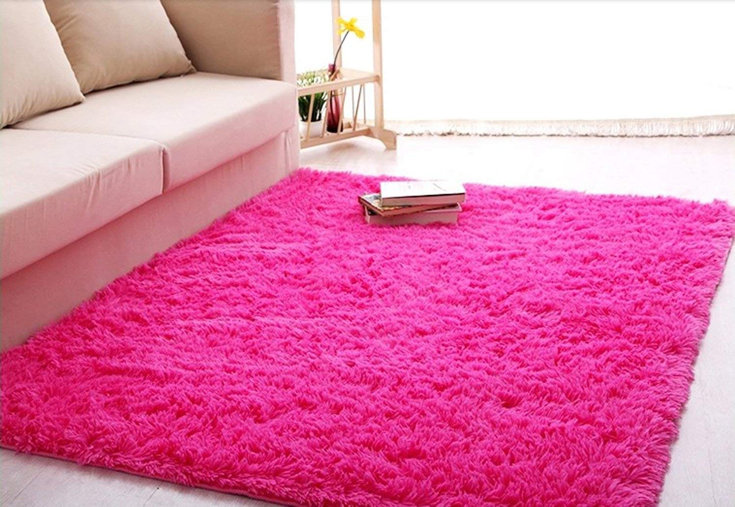 pink area rugs amazon.com: forever lover soft indoor morden shaggy area rug pad, 2.5 x OORKUUI