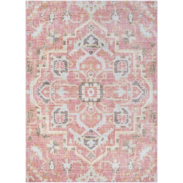pink area rugs mistana fields pink area rug u0026 reviews | wayfair FUNGCWQ