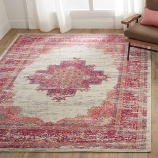 pink area rugs porch u0026 den greenpoint dobbin ivory/ fuchsia area rug - 8u0027 ... EEOQHFP