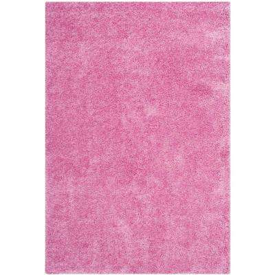 pink area rugs santa monica shag pink ... HZOAQGD