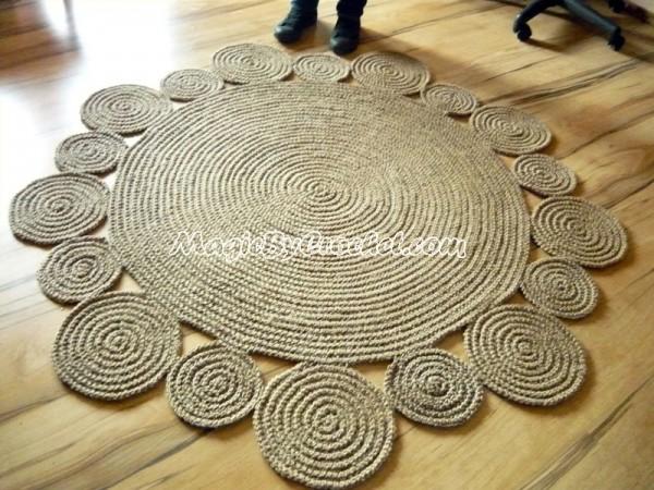 playful rug, area rug, braided rug, jute rug, handmade rug, 5 CBILUMD