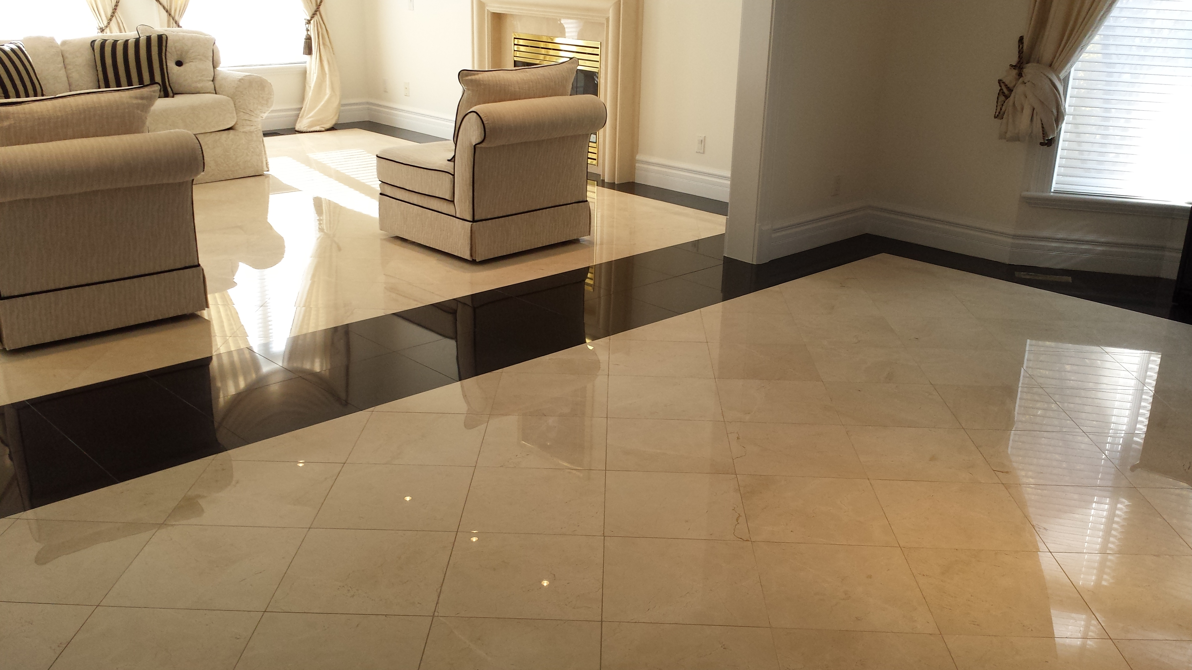 polished marble and granite floor restoration UWCAYSK