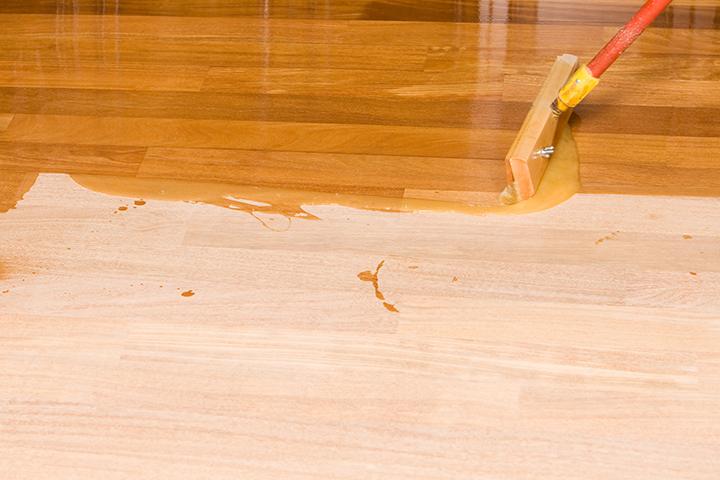 prefinished wood flooring staining your own unfinished hardwood floor FZBWWVY