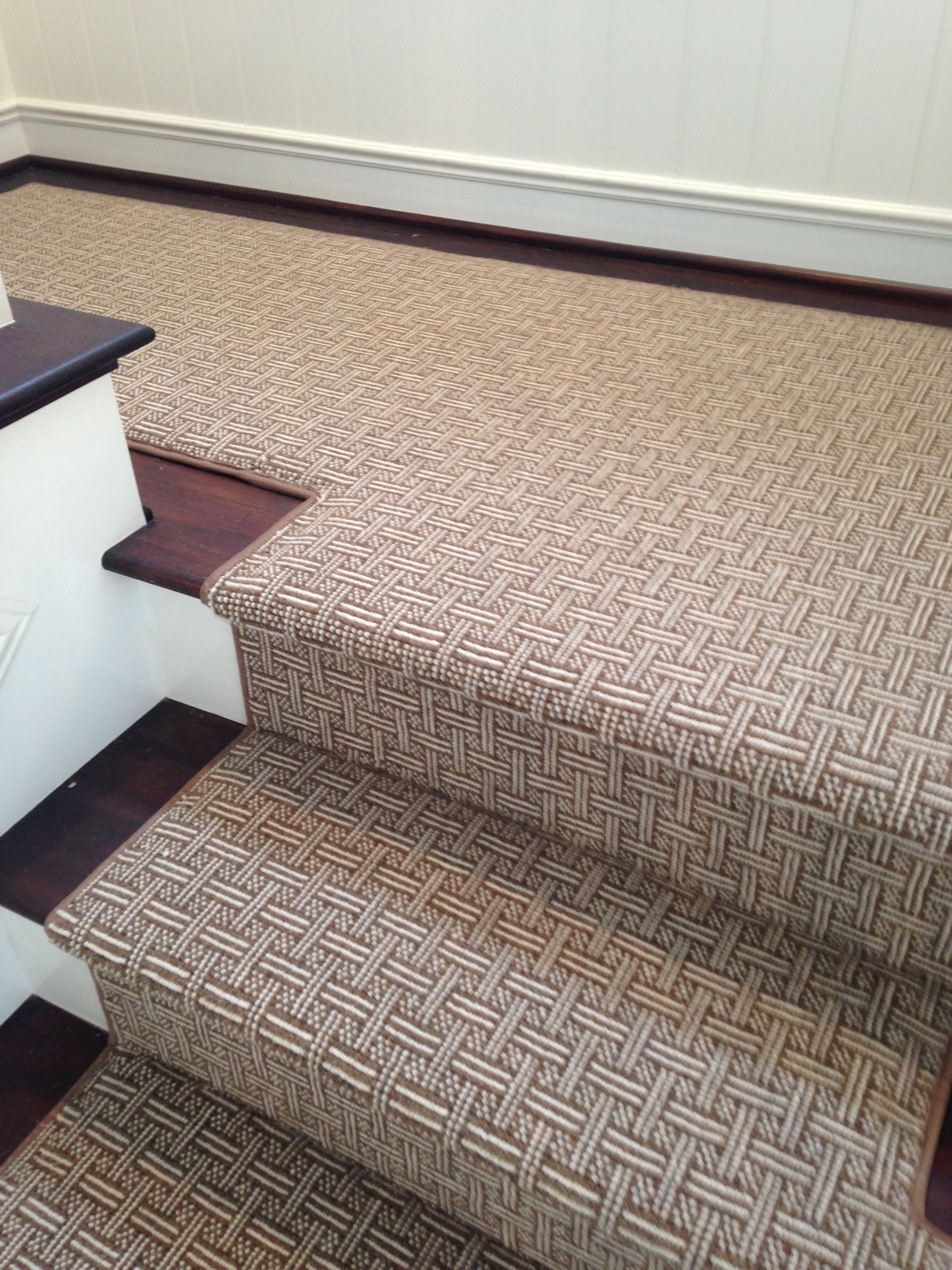 prestige mills carpet we fabricated this wool carpet from prestige mills into a stair runner for QVNWHPE