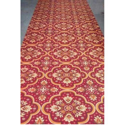 rajdhani red printed designer carpet, size: customised ZZLHXPY