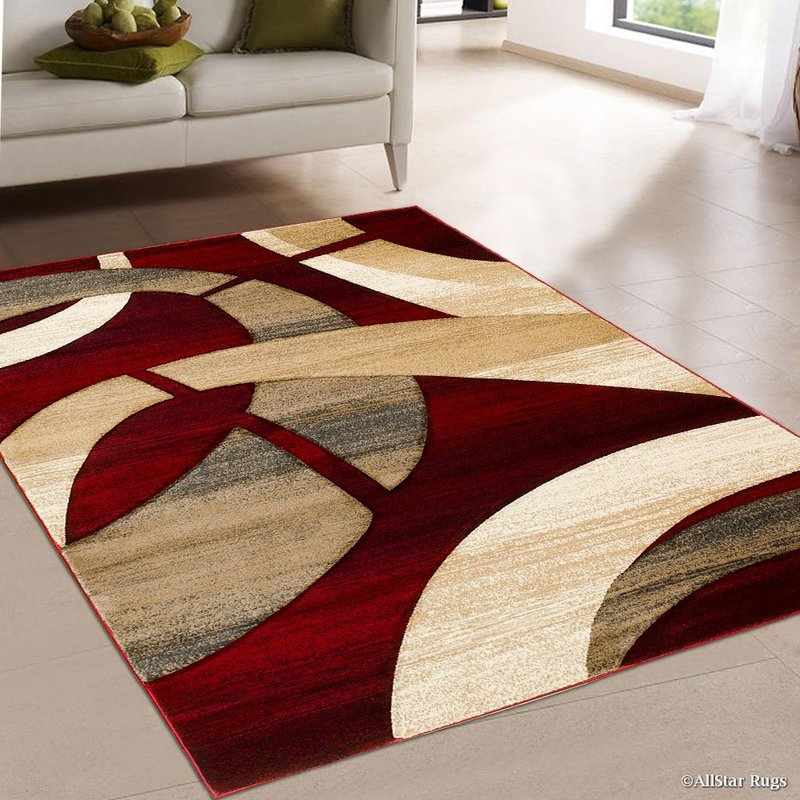 Red area rug for the lovers of red color