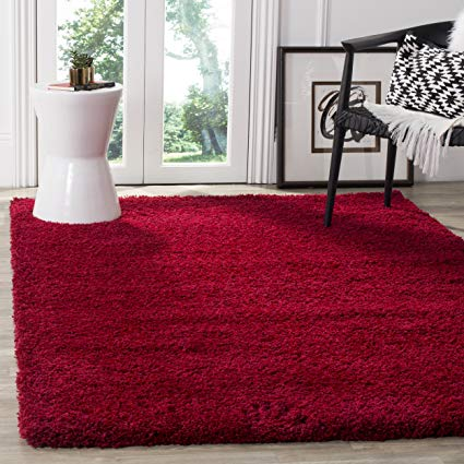 Red area rug safavieh california premium shag collection sg151-4040 red area rug (8u0027 x 10 QUEVSTT