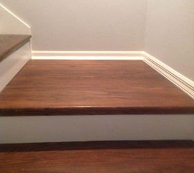 replace carpet on stairs from carpet to wood stairs redo cheater version, diy, how to, stairs BXHTJJO