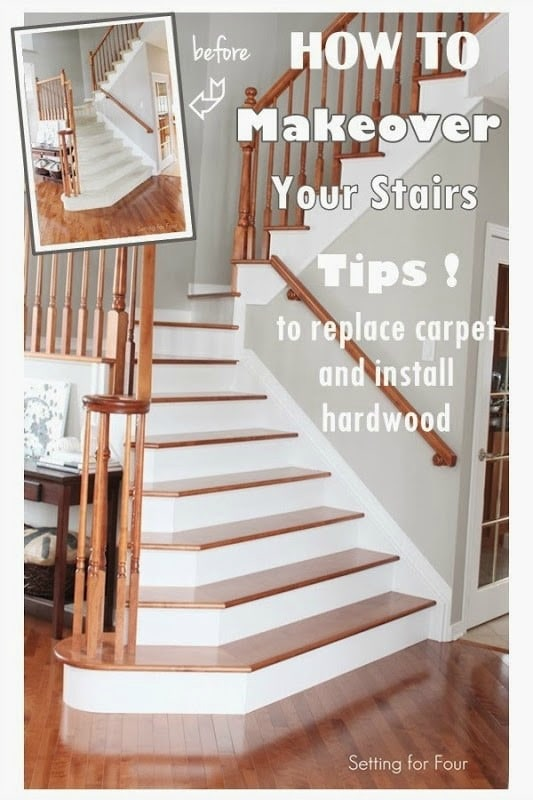 replace carpet on stairs how to makeover your stairs TIMOYWW