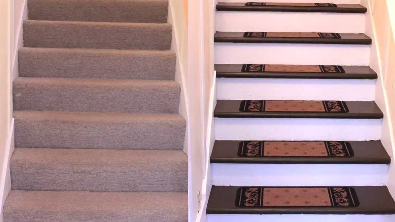 replace carpet on stairs how to renovate carpeted stairs to hardwood - diy - youtube OJENZDF
