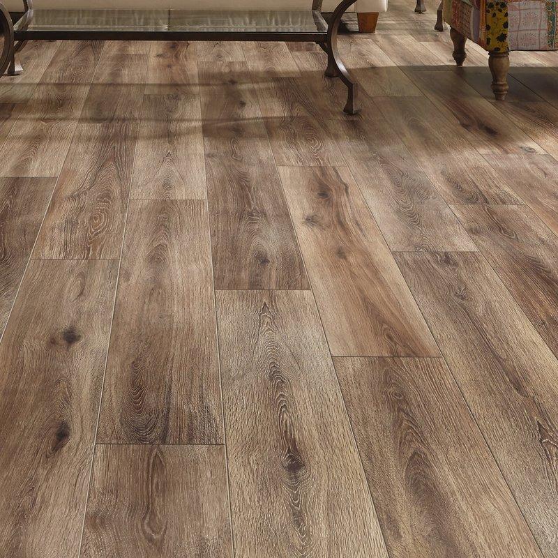restoration wide plank 8u0027u0027 x 51u0027u0027 x 12mm laminate flooring in brushed FYLLEWO