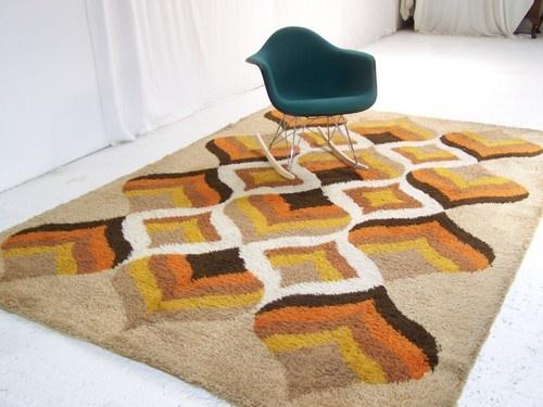 Retro rugs large vintage retro floor rug carpet retro abstract chevron panton era 60s EXKFLHW