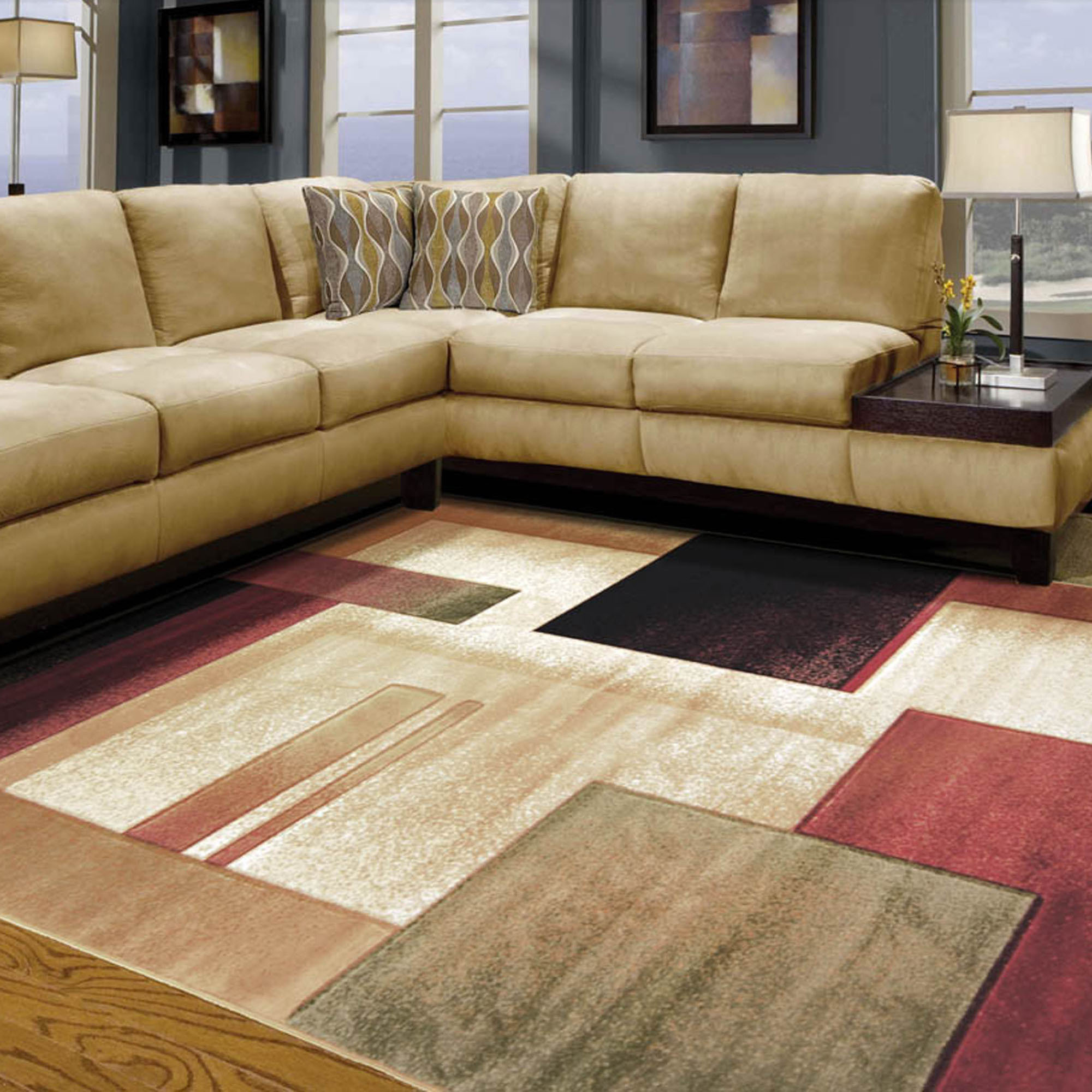 room rugs ... awesome rug design for modern living room ... RTSNOYM