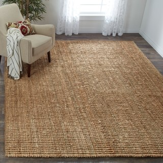 room rugs safavieh handwoven casual thick jute area rug - 6u0027 ... IGBQGFK