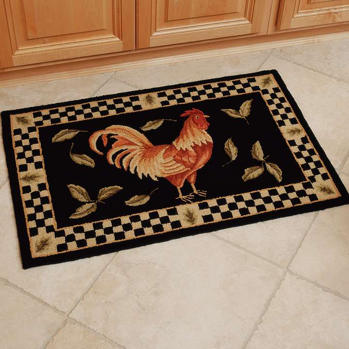 Rooster rugs for a beautiful kitchen