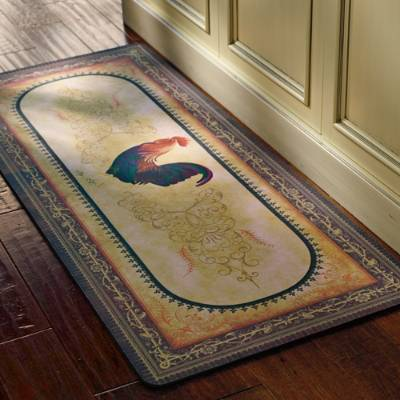 Rooster rugs rooster rugs for the kitchen NKAURKB