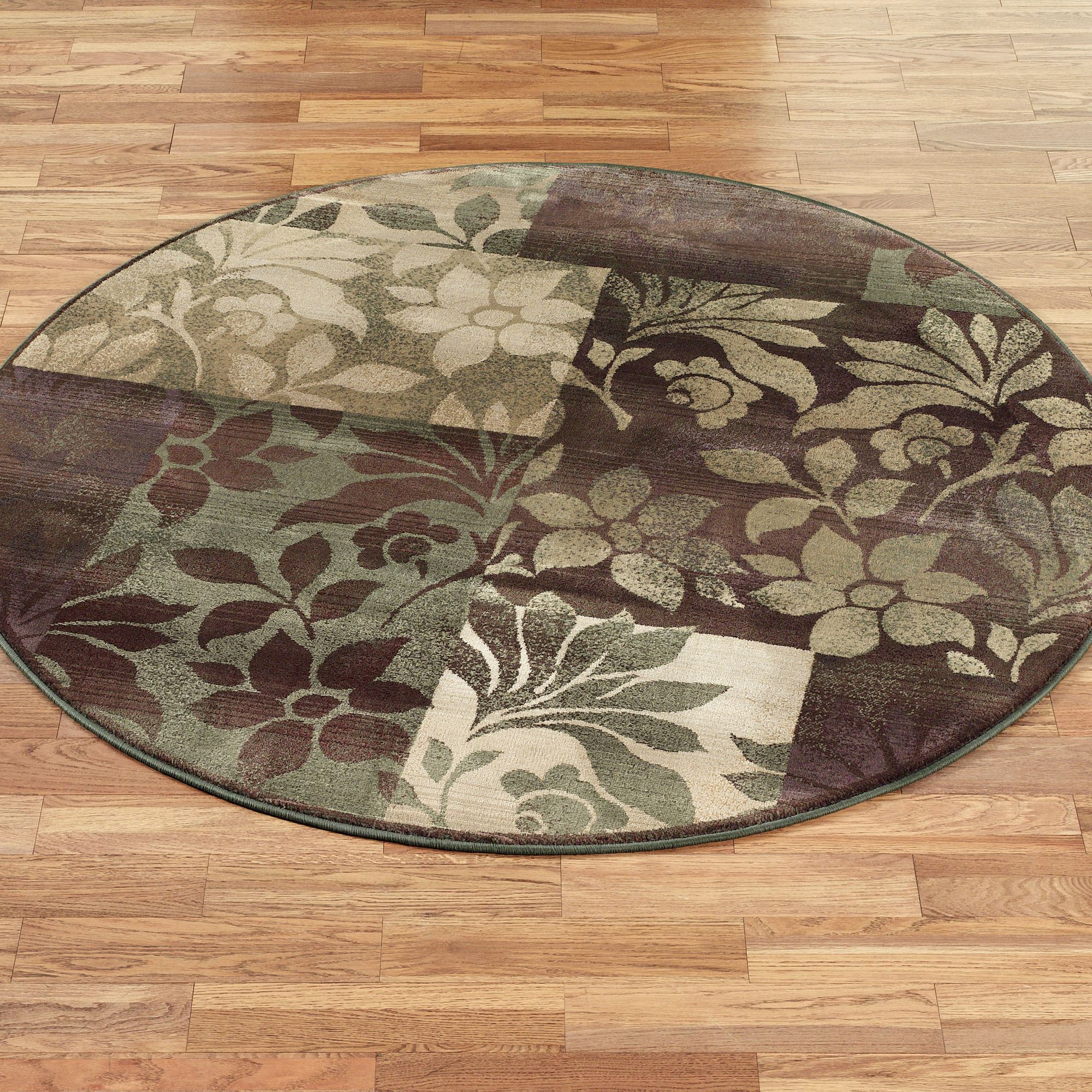 round area rug leaf collage round rug plum RJCCEHR