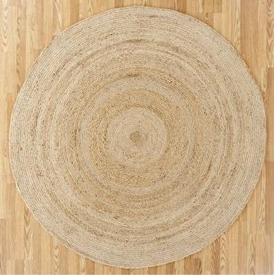 round natural jute circular rug NWKJIBQ