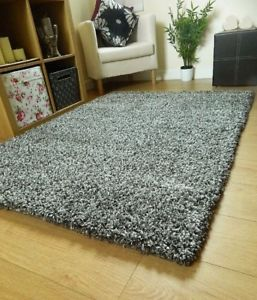 Rug carpet image is loading super-soft-cheap-rugs-grey-thick-plain-shaggy- SDPCHZX
