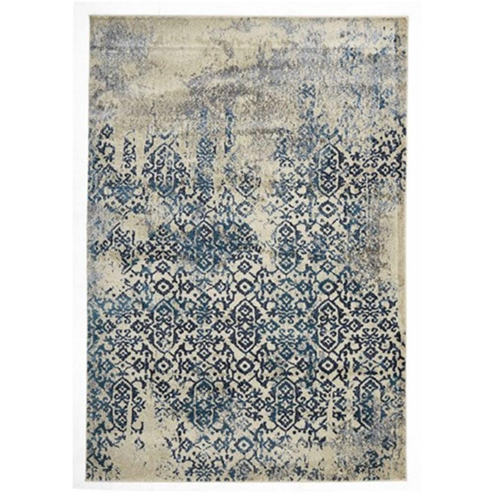 rug culture heritage blue modern rug 290 x 200cm UBMZCVA