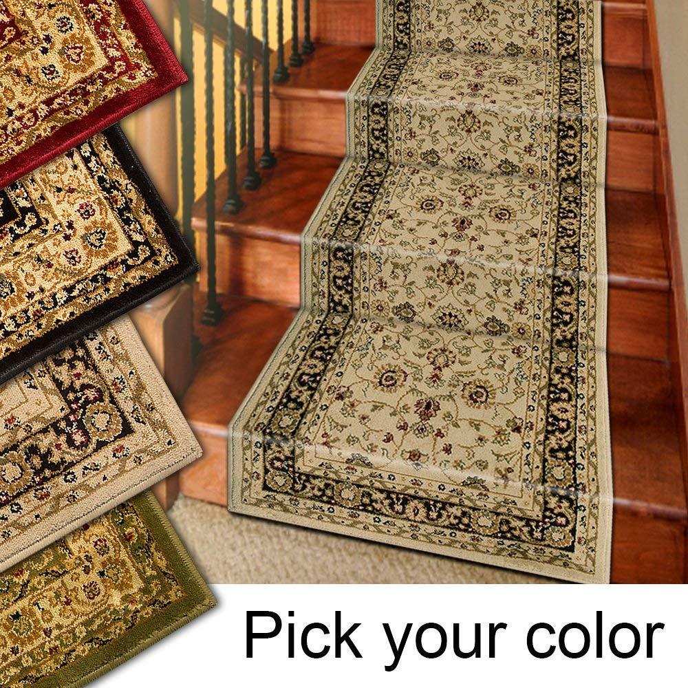 rug runner amazon.com: 25u0027 stair runner rugs - marash luxury collection stair carpet  runners TURJOBH
