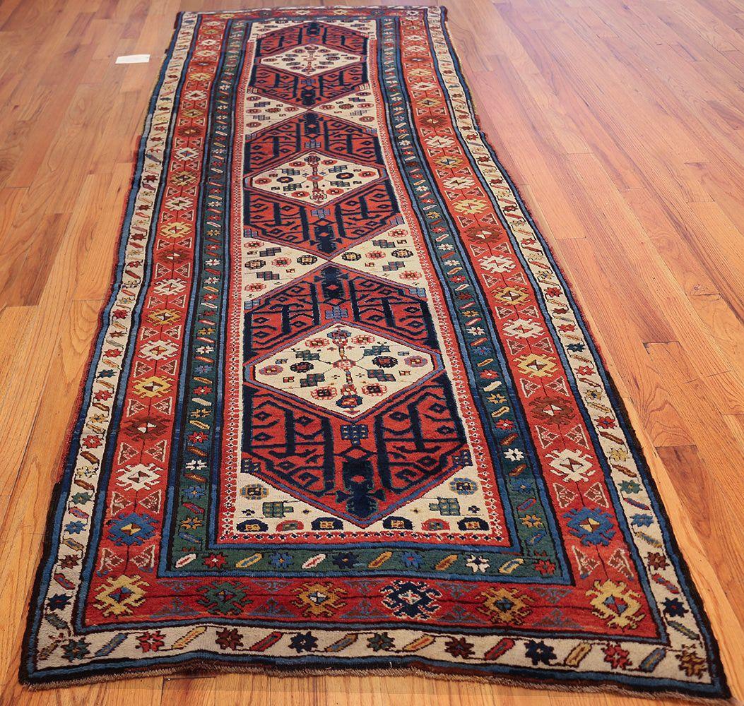 rug runner antique caucasian kazak runner rug 46425 whole nazmiyal VARDOSM