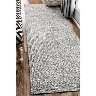 rug runner oliver u0026 james rowan handmade grey braided runner rug ... LDNKBRD