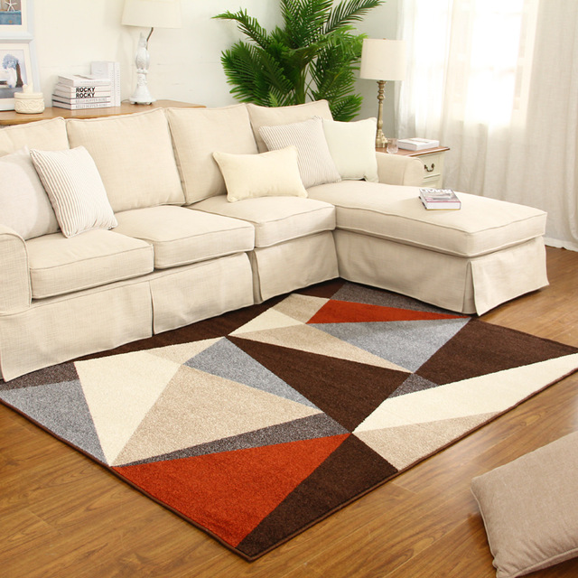 Rugs and carpets 3d modern living room geometry rug coffee table bedroom rugs and carpets KOCJFIX