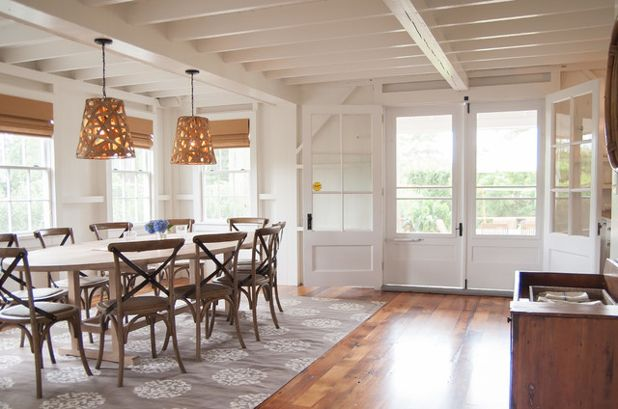 rugs for dining room beach style dining room by allee architecture + design, llc IQGUHLP