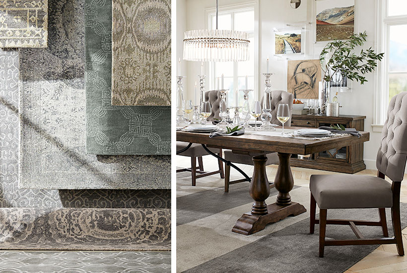 rugs for dining room how-to-choose-the-perfect-rug-for-your- DQXQRJE
