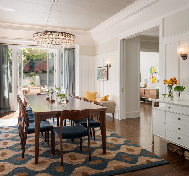 rugs for dining room transitional dining room by sutro architects VUGBOLF
