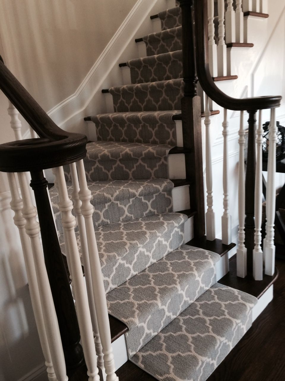 rugs on stairs make a statement on your stairs...with taza from tuftex - important to line CHTLHNR