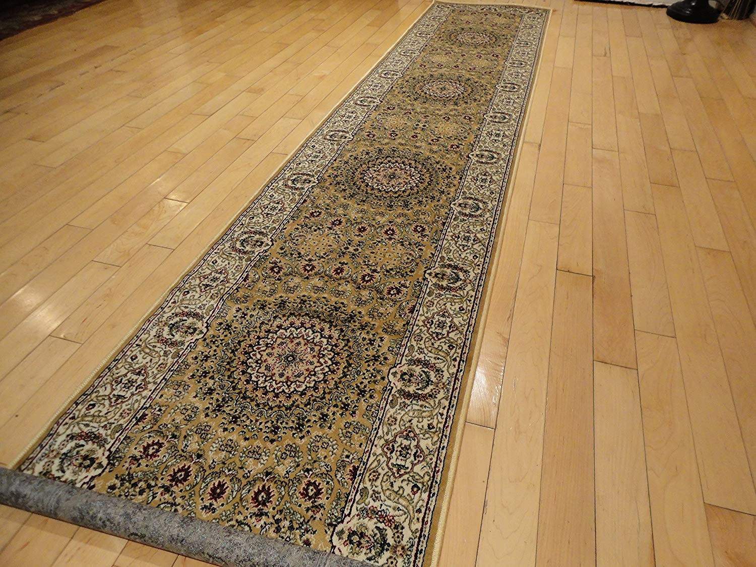 runner rugs amazon.com: new silk persian 2x12 hallway runner gold long runners for  stairs AVUYDZH