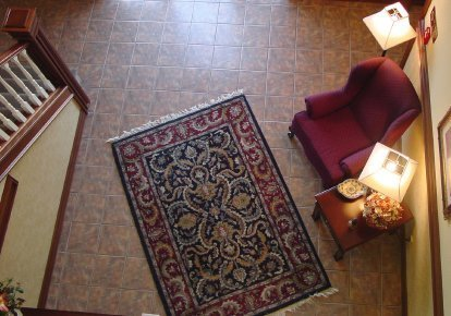 scatter rugs downward photo of