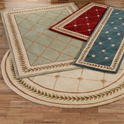 scatter rugs floral trellis area