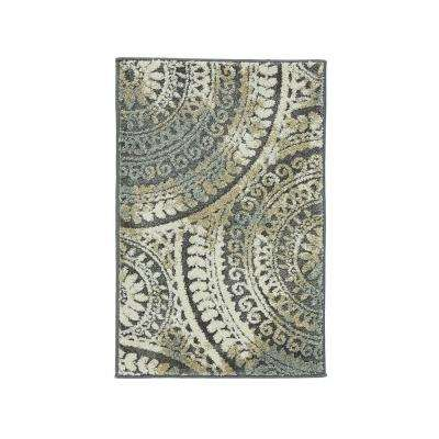 scatter rugs spiral medallion gray 2 ft. x 3 ft. scatter rug WCNWGVT