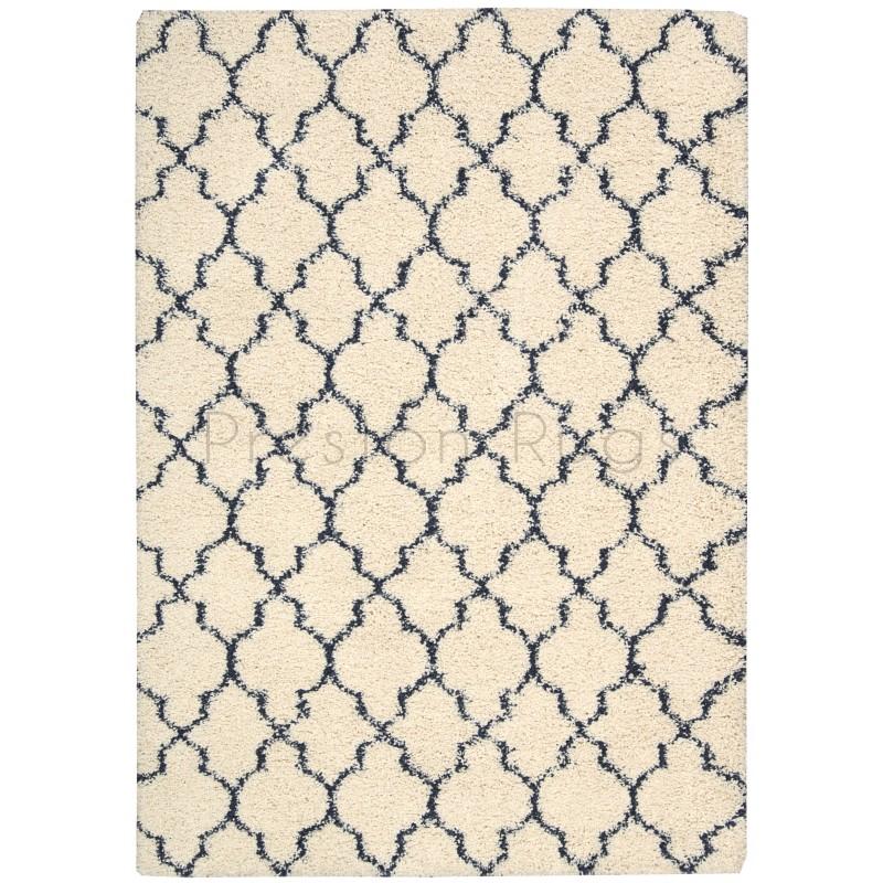 shaggy rug pattern amore luxury pattern shaggy rug - ivory blue-160 x 226 cm (5u0027 MAIFGZQ