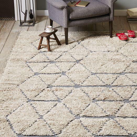 shaggy rug pattern carla peters geo line wool ivory shag rug KRXBDHN
