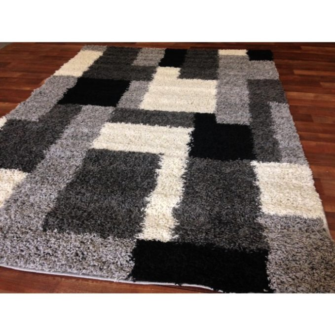 shaggy rug pattern photo 2 of 6 gray modern blocks shaggy area rug silver black white AESMFVI