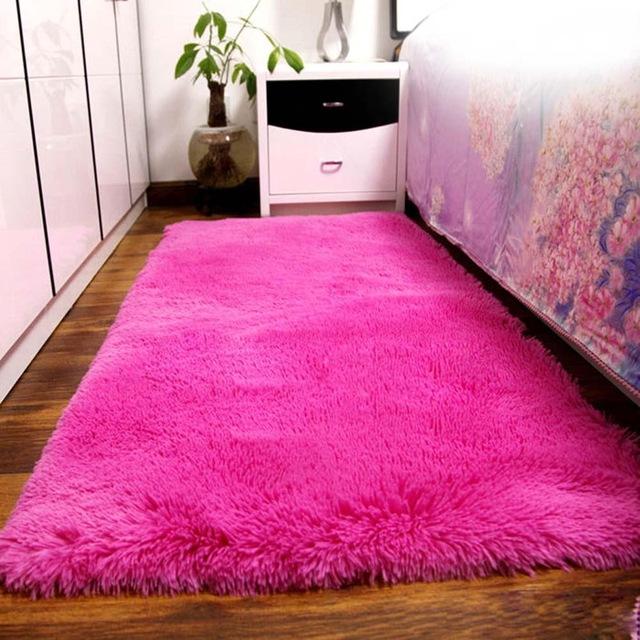 shaggy rugs fluffy rugs anti-skiding shaggy area rug dining room carpet floor mats hot ORPJKZH