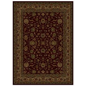 shaw rugs shaw living palace kashan rectangular red transitional area rug (common:  5-ft x MMRVZVK