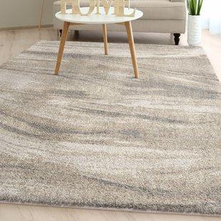 shellenbarger modern plush ivory area rug HYTIIJJ