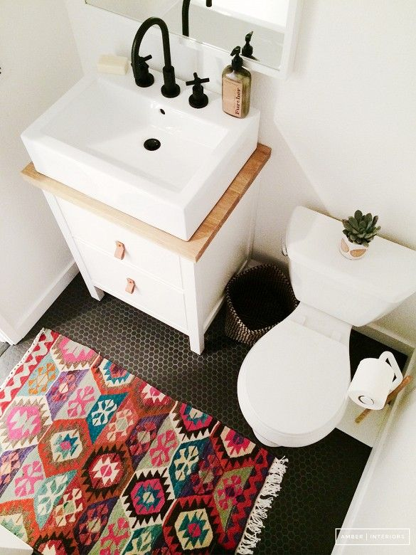 small rug in bathrooms bathroom colors pictures the boring white tiles of yesterday have with  colorful RRUBWEE