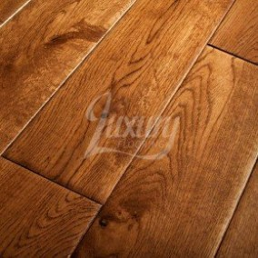 solid oak flooring 125mm golden hand scraped solid european oak wood flooring, 18mm thick ILZNGSE