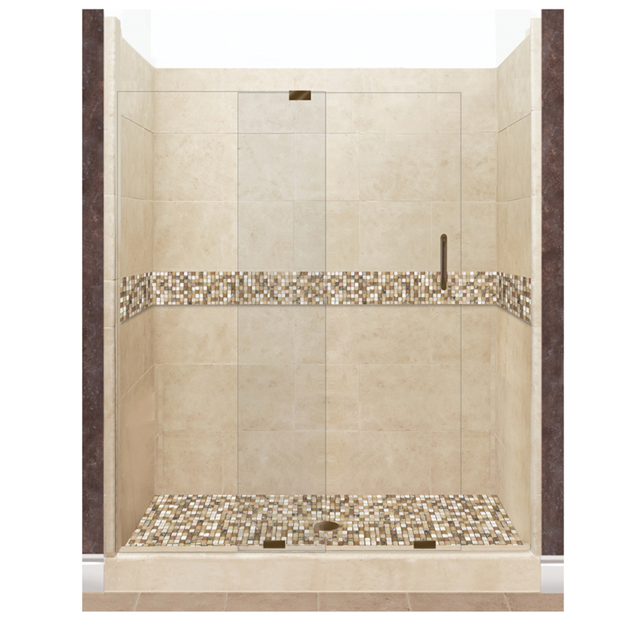 Solid stone floors american bath factory mesa solid surface wall stone composite floor  12-piece alcove VYZIJGL