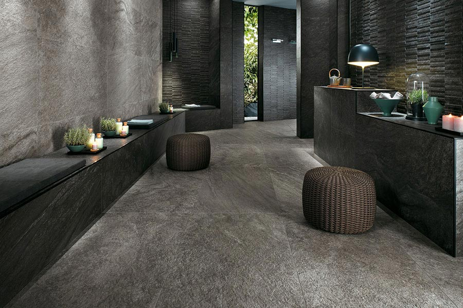Solid stone floors porcelain stoneware that captures the essence of rugged solid stone for use AESOVZX
