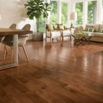 Solid wood floor american scrape