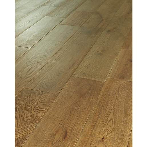 Solid wood floor wickes dusky oak solid wood flooring | wickes.co.uk MGUACWY