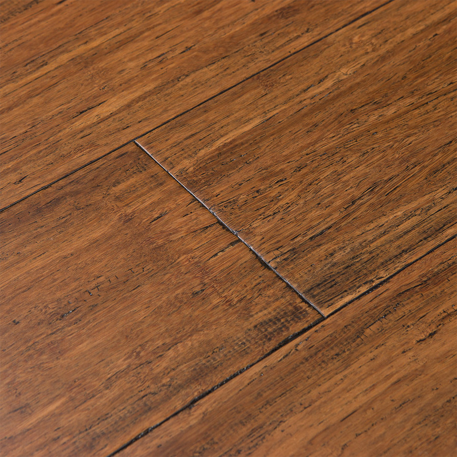 Solid wood floors cali bamboo fossilized 5-in antique java bamboo solid hardwood flooring  (21.5-sq LRCHFFB