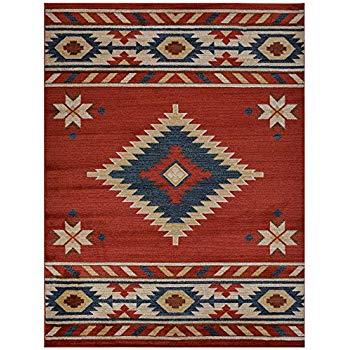 southwestern rugs nevita collection southwestern native american design area rug rugs  geometric (orange (terra) HOKBQIC